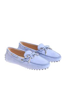 Tod's - Light blue leather loafers