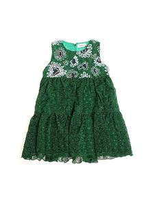 Missoni Kids - Green lurex dress with embroidery