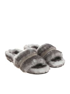 KENDALL + KYLIE - Grey eco-leather slides