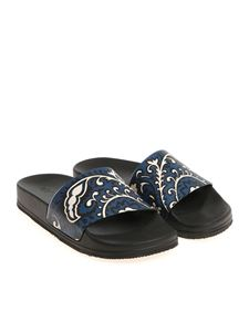 Red Valentino - Black printed leather slippers