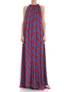 Philosophy di Lorenzo Serafini - Blue and red pleated dress