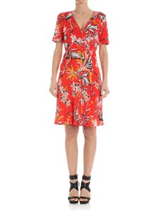 Diane von Fürstenberg - Red wrap floral dress