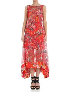 Diane von Fürstenberg - Red floral striped dress