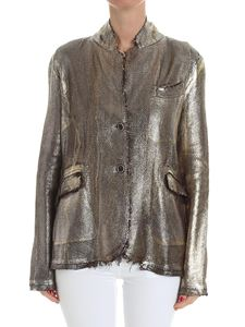 Avant Toi - Brown jacket with golden coating