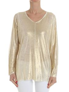 Avant Toi - White sweater with golden coating