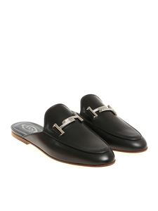 Tod's - Black leather mules