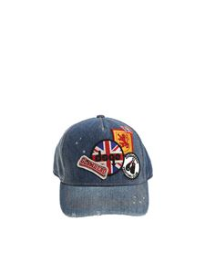 Dsquared2 - Denim hat with patches