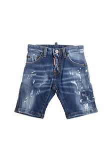 Dsquared2 - Denim ripped bermuda