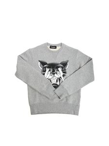 Dsquared2 - Gray sweatshirt with tiger print