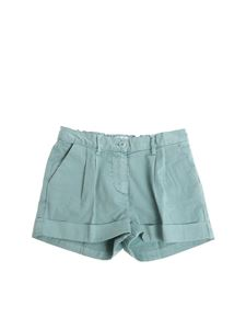 Il gufo - Green shorts with turn-ups