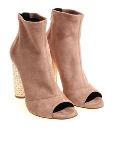 sergio levantesi - Pink Sophy open toe ankle boots