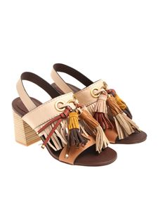 See by Chloé - Beige sandals with tassels