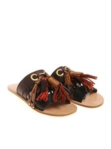 See by Chloé - Brown slides with tassels