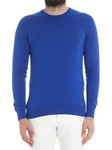 Etro - Electric blue sweater with logo embroidery