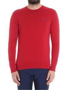 Etro - Red sweater with logo embroidery