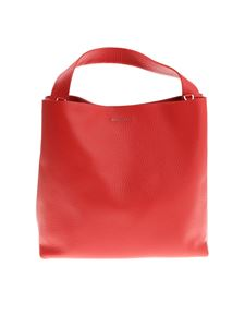 Orciani - Red hammered leather bag