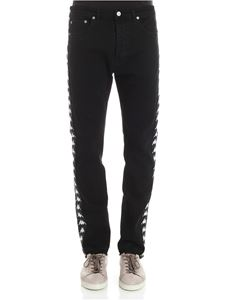 Kappa - Black jeans with logo inserts