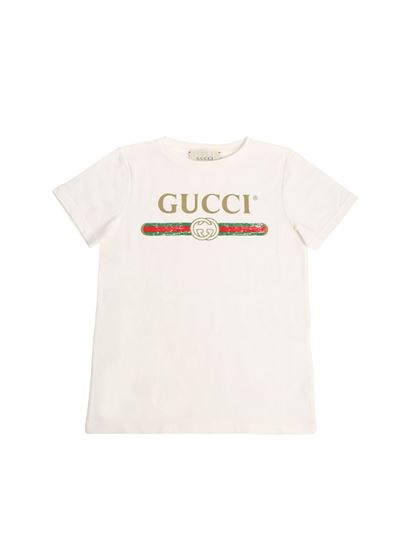 Gucci - White t-shirt with logo print