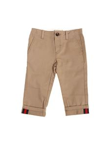 Gucci - Camel color cotton trousers