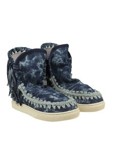 Mou - Blue Summer Eskimo Fringed sneakers