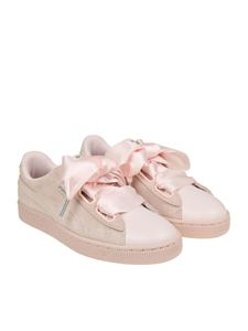 Puma - Pink Suede Heart Bubble sneakers