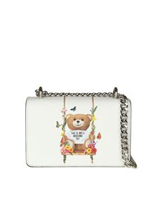 Moschino - White eco-leather shoulder bag