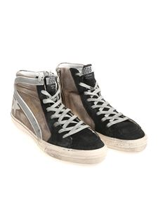Golden Goose Deluxe Brand - Taupe and black Slide sneakers