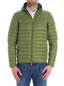 Save the duck - Sage green padded jacket