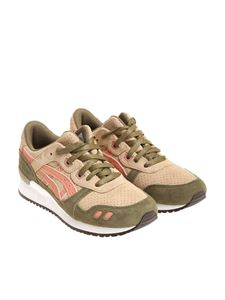 Asicstiger - Green and beige Gel-Lyte III sneakers