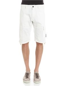 CP Company - White bermuda with pockets