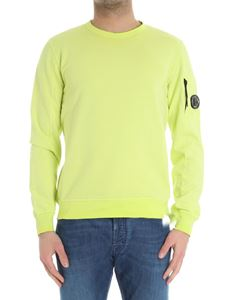 CP Company - Lime colored sweatshirt with pocket