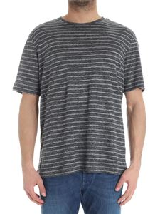 Z Zegna - Gray and anthracite striped T-shirt