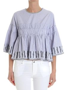 Jucca - Flared striped blouse