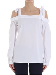 Michael Kors - White top with boat neckline