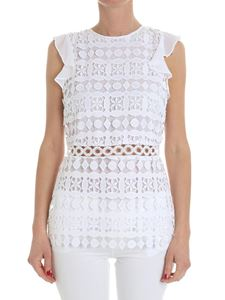 Michael Kors - White embroidered top