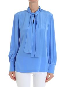 Diane von Fürstenberg - Light blue Hydra blouse