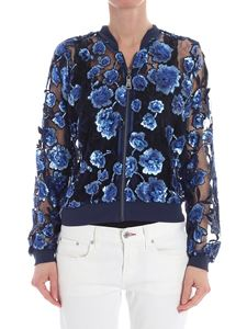 MY TWIN Twinset - Blue tulle and sequins top