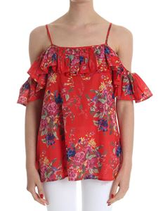 MY TWIN Twinset - Red floral top