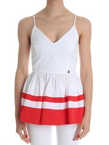 MY TWIN Twinset - White striped top