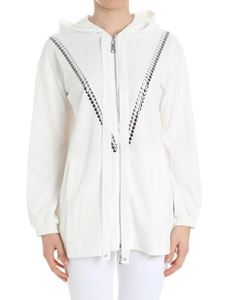 MY TWIN Twinset - White sweatshirt with metal inserts