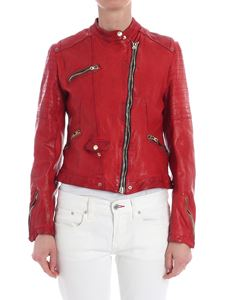 Delan - Red leather jacket