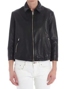 Delan - Black leather jacket