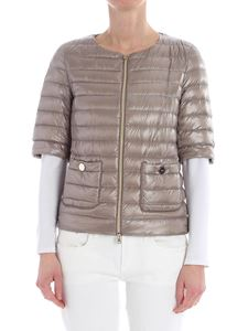 Herno - Dove-grey quilted down jacket