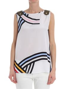 Iceberg - White top with geometric pattern