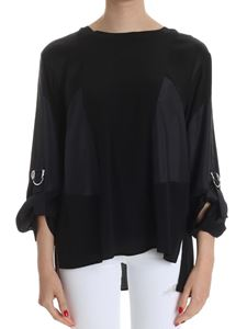 Iceberg - Black blouse with silk inserts