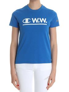 Champion - Electric blue t-shirt with logo print