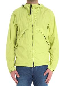 CP Company - Lime color 50.3 jacket with glasses