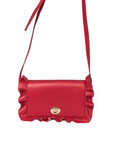 Borbonese - Red leather shoulder bag