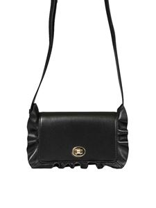 Borbonese - Black leather shoulder bag