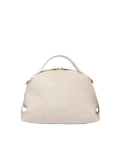 Borbonese White Hobo bag with Graffiti print 4IRit